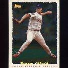 1995 Topps Baseball Cyberstats #024 Dave West - Philadelphia Phillies