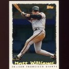 1995 Topps Baseball Cyberstats #008 Matt Williams - San Francisco Giants