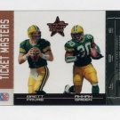 2004 Leaf Rookies And Stars Ticket Masters Bronze #TM-10 Brett Favre / Ahman Green /1250