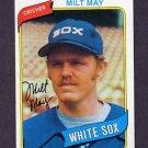 1980 Topps Baseball #647 Milt May - Chicago White Sox