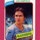 1980 Topps Baseball #637 Joe Simpson - Seattle Mariners ExMt