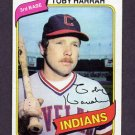 1980 Topps Baseball #636 Toby Harrah - Cleveland Indians ExMt