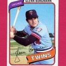 1980 Topps Baseball #634 Glenn Borgmann - Minnesota Twins NM-M