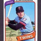 1980 Topps Baseball #634 Glenn Borgmann - Minnesota Twins ExMt