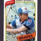 1980 Topps Baseball #632 Barry Bonnell - Atlanta Braves