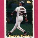 1995 Topps Baseball Cyberstats #064 Barry Bonds - San Francisco Giants