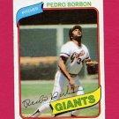 1980 Topps Baseball #627 Pedro Borbon - San Francisco Giants
