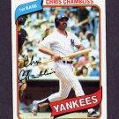1980 Topps Baseball #625 Chris Chambliss - New York Yankees NM-M
