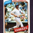 1980 Topps Baseball #625 Chris Chambliss - New York Yankees Ex