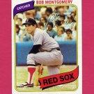 1980 Topps Baseball #618 Bob Montgomery - Boston Red Sox NM-M
