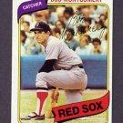 1980 Topps Baseball #618 Bob Montgomery - Boston Red Sox ExMt