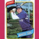 1980 Topps Baseball #608 Alan Bannister - Chicago White Sox