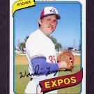 1980 Topps Baseball #607 Woodie Fryman - Montreal Expos