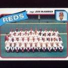 1980 Topps Baseball #606 Cincinnati Reds CL / John McNamara