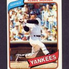 1980 Topps Baseball #600 Reggie Jackson - New York Yankees NM-M