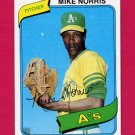 1980 Topps Baseball #599 Mike Norris - Oakland A's NM-M