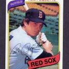 1980 Topps Baseball #597 Tom Poquette - Boston Red Sox