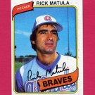1980 Topps Baseball #596 Rick Matula RC - Atlanta Braves