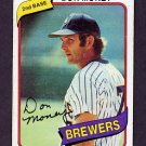 1980 Topps Baseball #595 Don Money - Milwaukee Brewers