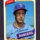 1980 Topps Baseball #592 Jon Matlack - Texas Rangers NM-M
