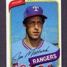 1980 Topps Baseball #592 Jon Matlack - Texas Rangers Ex