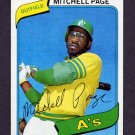 1980 Topps Baseball #586 Mitchell Page - Oakland A's