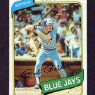 1980 Topps Baseball #581 Bob Bailor - Toronto Blue Jays