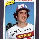 1980 Topps Baseball #578 Scott Sanderson - Montreal Expos