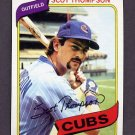 1980 Topps Baseball #574 Scot Thompson - Chicago Cubs NM-M