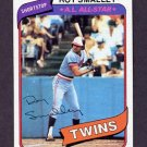 1980 Topps Baseball #570 Roy Smalley - Minnesota Twins ExMt