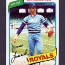 1980 Topps Baseball #565 Dennis Leonard - Kansas City Royals