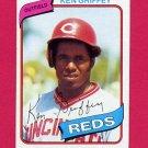 1980 Topps Baseball #550 Ken Griffey Sr. - Cincinnati Reds