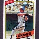 1980 Topps Baseball #545 Jeff Burroughs - Atlanta Braves