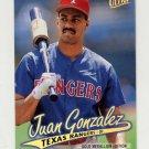 1997 Ultra Baseball Gold Medallion #132 Juan Gonzalez - Texas Rangers