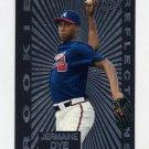 1997 Ultra Baseball Rookie Reflections #02 Jermaine Dye - Atlanta Braves