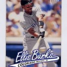 1997 Ultra Baseball #184 Ellis Burks - Colorado Rockies