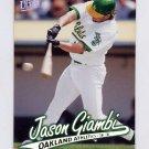 1997 Ultra Baseball #112 Jason Giambi - Oakland A's