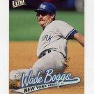 1997 Ultra Baseball #095 Wade Boggs - New York Yankees