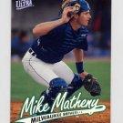 1997 Ultra Baseball #078 Mike Matheny - Milwaukee Brewers
