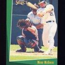 1993 Select Baseball #016 Mark McGwire - Oakland A's