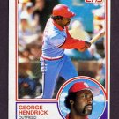 1983 Topps Baseball #650 George Hendrick - St. Louis Cardinals