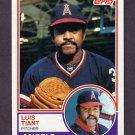 1983 Topps Baseball #178 Luis Tiant - California Angels