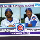 1983 Topps Baseball #051 Chicago Cubs TL / Leon Durham / Fergie Jenkins
