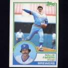 1983 Topps Baseball #035 Rollie Fingers - Milwaukee Brewers