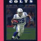 2008 Topps Chrome Football #TC050 Joseph Addai - Indianapolis Colts