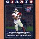 2008 Topps Chrome Football #TC153 Plaxico Burress PSH - New York Giants