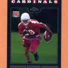 2008 Topps Chrome Football #TC193 Dominique Rodgers-Cromartie RC - Arizona Cardinals
