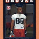 2008 Topps Chrome Football #TC217 Martin Rucker RC - Cleveland Browns