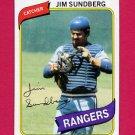 1980 Topps Baseball #530 Jim Sundberg - Texas Rangers NM-M