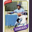 1980 Topps Baseball #518 Nelson Norman RC - Texas Rangers